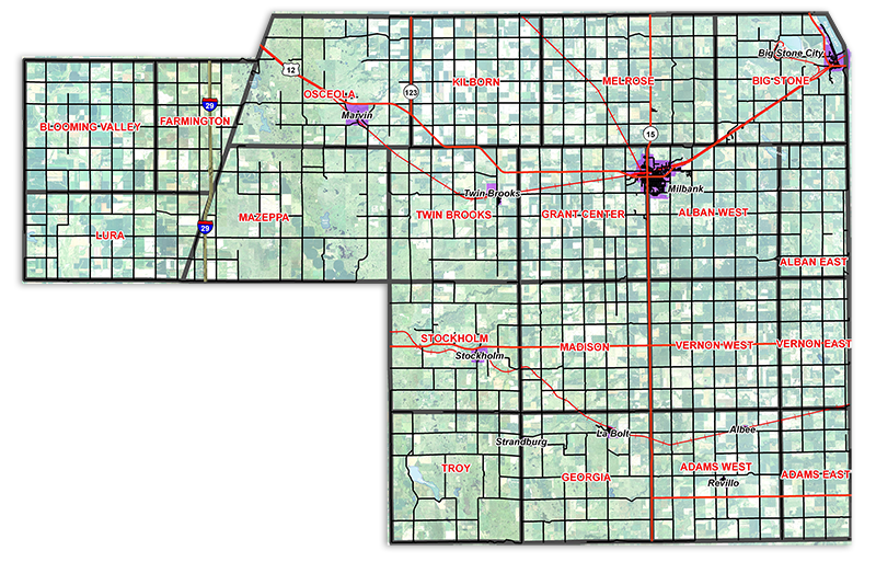 Grant County of South Dakota: Grant County Map on pal map, tn map, id map, tx map, cif map, penh map, south dakota highway map, ne map, kr map, vg map, il map, wi map, et map, eastern ia map, nd map, usa map, mn map, co map, wy map, canada map,